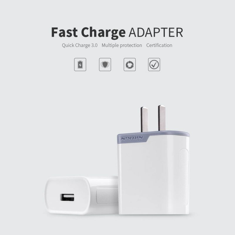 Nillkin Fast Charge Adapter with Quick Charge 3.0 support (Chinese Plug) order from official NILLKIN store