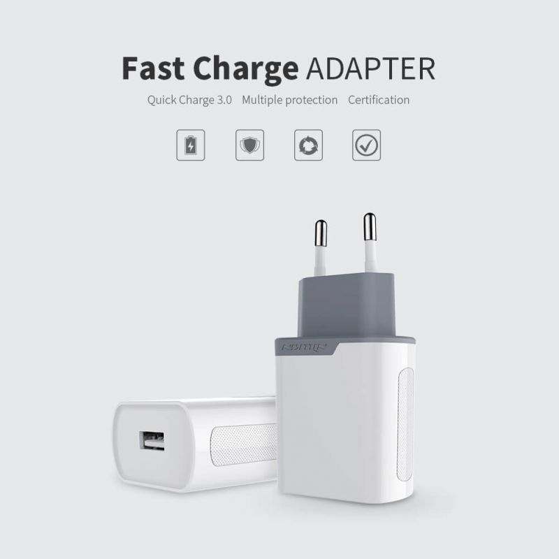 Nillkin Fast Charge Adapter with Quick Charge 3.0 support (Euro Plug) order from official NILLKIN store