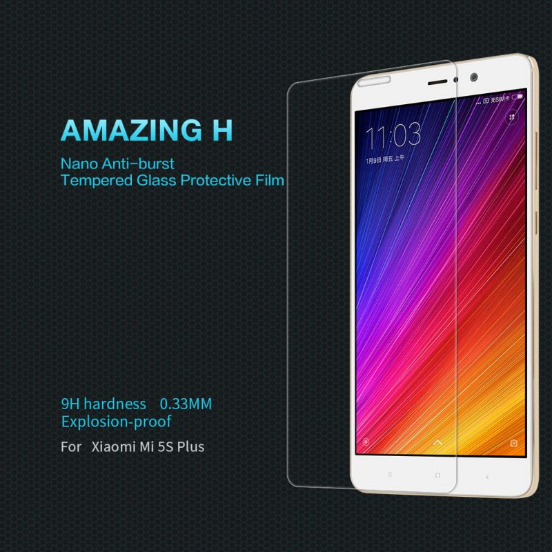 Nillkin Amazing H tempered glass screen protector for Xiaomi Mi5S Plus (Mi 5S Plus) order from official NILLKIN store