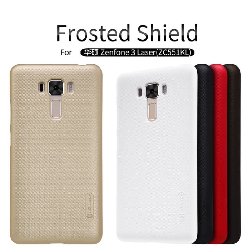 Nillkin Super Frosted Shield Matte cover case for Asus Zenfone 3 Laser ZF3 (ZC551KL) + free screen protector order from official NILLKIN store