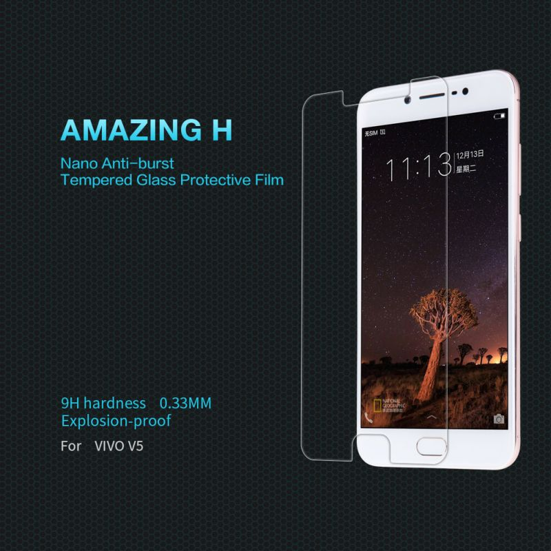 Nillkin Amazing H tempered glass screen protector for Vivo V5 (Y67) order from official NILLKIN store