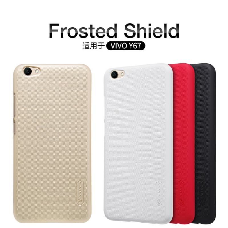 Nillkin Super Frosted Shield Matte cover case for Vivo V5 (Y67) + free screen protector order from official NILLKIN store