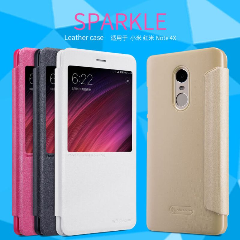 Nillkin sparkle series new leather case for xiaomi redmi note 4x nillkin sparkle series new leather case for xiaomi redmi note 4x order from official nillkin store stopboris Images
