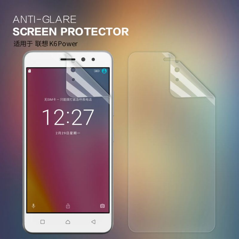 Nillkin Matte Scratch-resistant Protective Film for Lenovo K6 Power order from official NILLKIN store