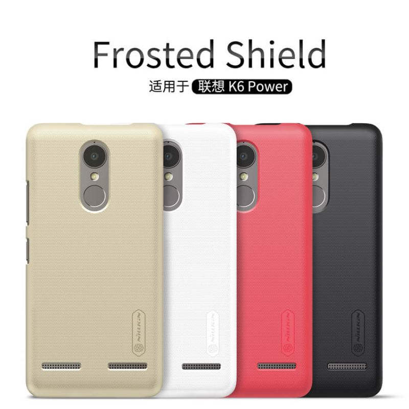 Nillkin Super Frosted Shield Matte cover case for Lenovo K6 Power + free screen protector order from official NILLKIN store