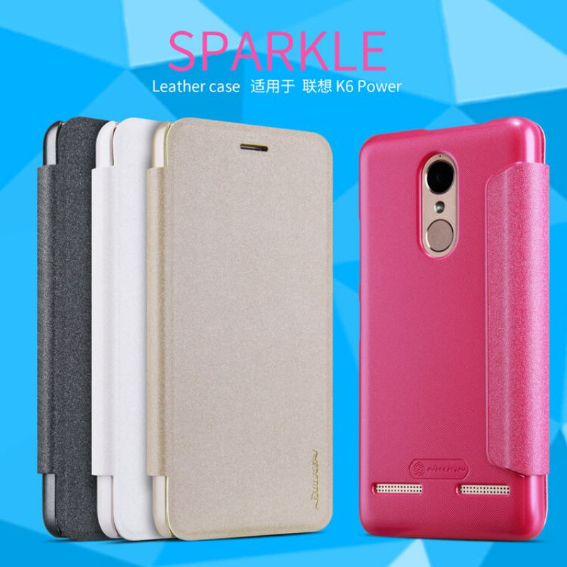 Nillkin Sparkle Series New Leather case for Lenovo K6 Power order from official NILLKIN store
