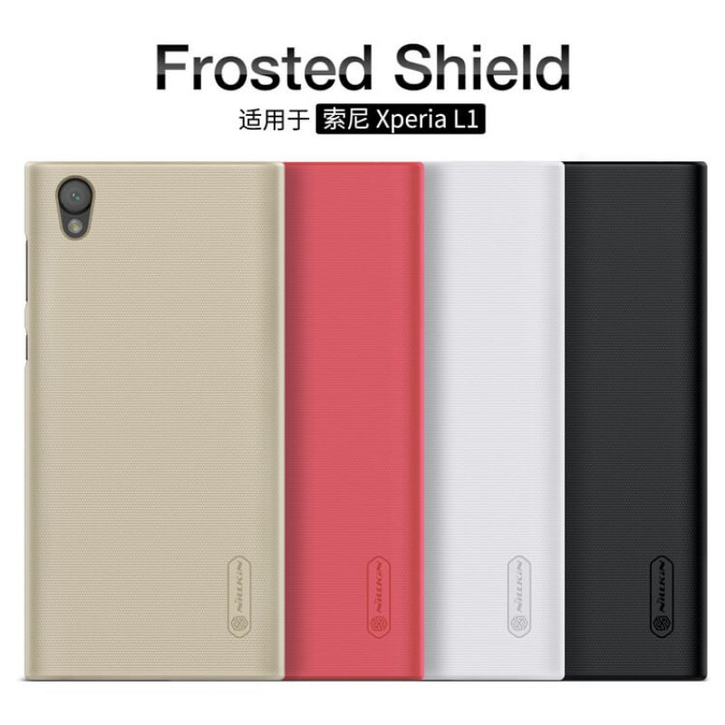 Nillkin Super Frosted Shield Matte cover case for Sony Xperia L1 + free screen protector order from official NILLKIN store