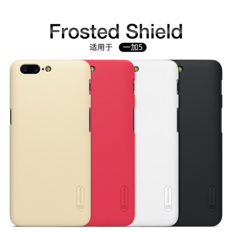 Nillkin Super Frosted Shield Matte cover case for Oneplus 5 (A5000 A5003 A5005) + free screen protector order from official NILLKIN store