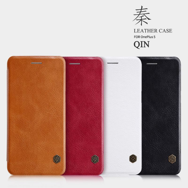 Nillkin Qin Series Leather case for Oneplus 5 (A5000 A5003 A5005) order from official NILLKIN store