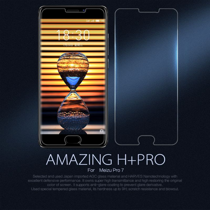Nillkin Amazing H+ Pro tempered glass screen protector for Meizu Pro 7 order from official NILLKIN store