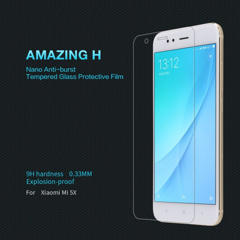 Nillkin Amazing H tempered glass screen protector for Xiaomi Mi5X (Mi 5X, Mi A1) order from official NILLKIN store
