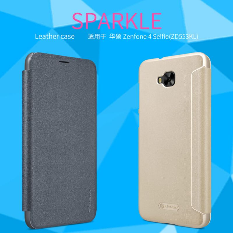 Nillkin Sparkle Series New Leather case for Asus Zenfone 4 Selfie (ZD553KL) order from official NILLKIN store