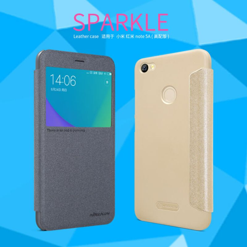 Nillkin Sparkle Series New Leather case for Xiaomi Redmi Note 5A Prime order from official NILLKIN store