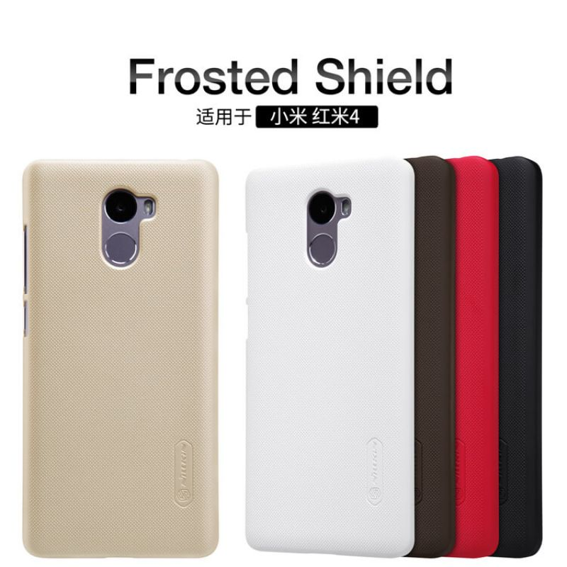 Nillkin Super Frosted Shield Matte cover case for Xiaomi Redmi 4 + free screen protector order from official NILLKIN store