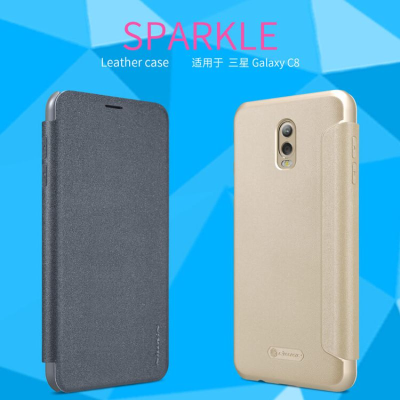 Nillkin Sparkle Series New Leather case for Samsung Galaxy J7 Plus J7+ (C8) order from official NILLKIN store