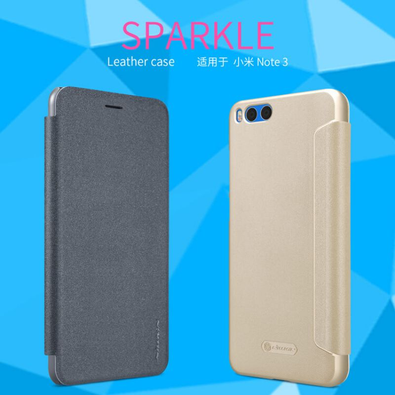 Nillkin Sparkle Series New Leather case for Xiaomi Mi Note 3 order from official NILLKIN store