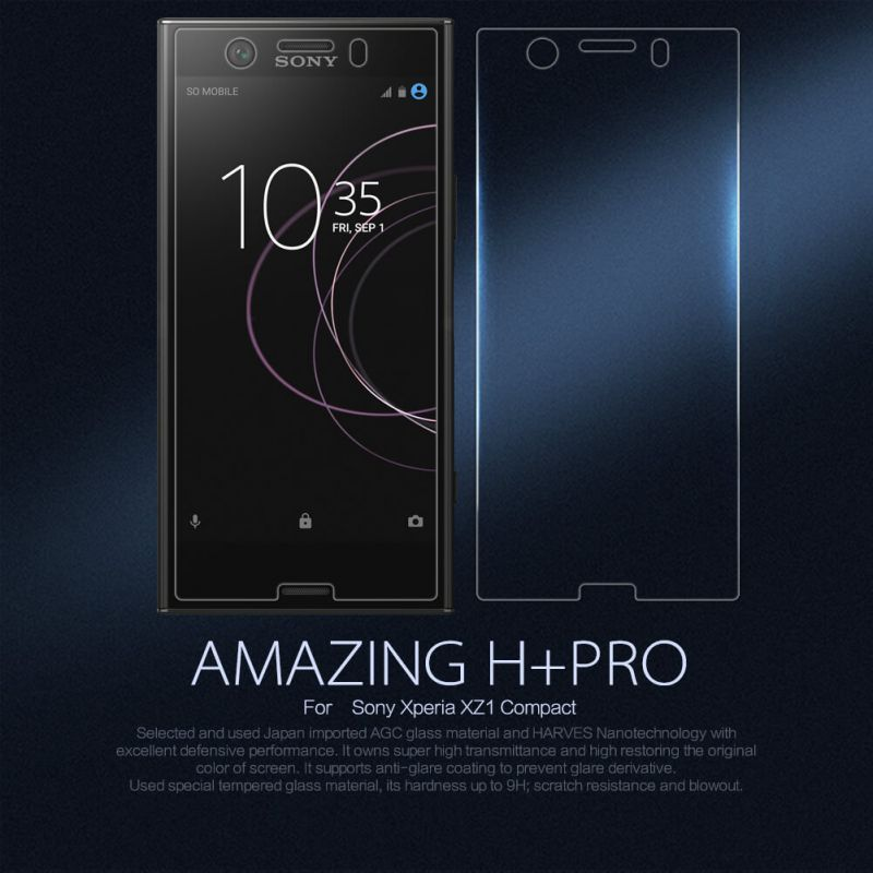 Nillkin Amazing H+ Pro tempered glass screen protector for Sony Xperia XZ1 Compact order from official NILLKIN store