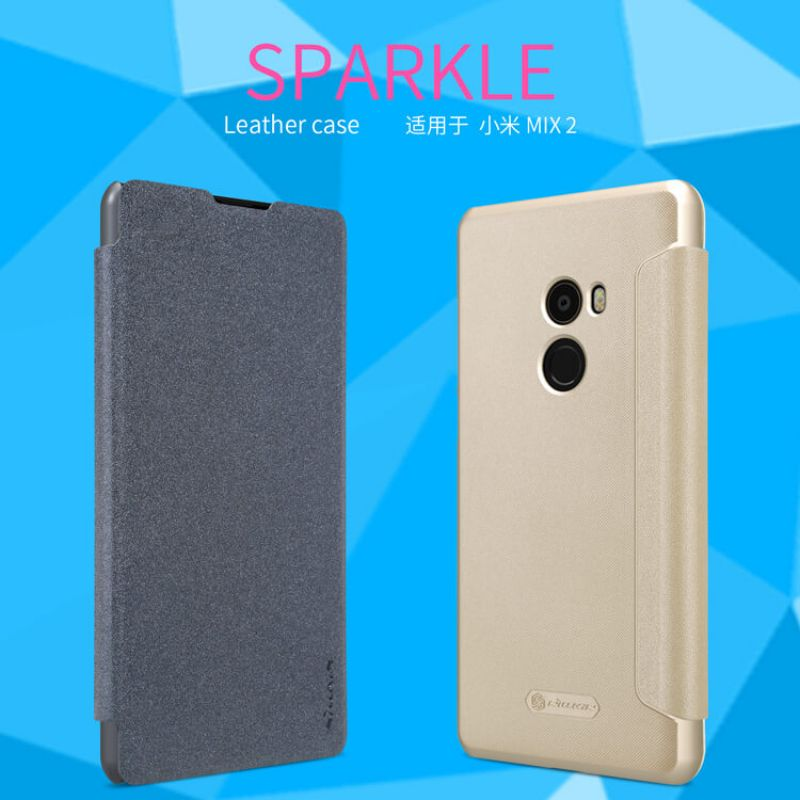 Nillkin Sparkle Series New Leather case for Xiaomi Mi MIX 2 order from official NILLKIN store
