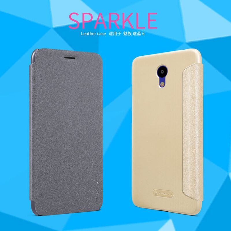 Nillkin Sparkle Series New Leather case for Meizu M6 order from official NILLKIN store