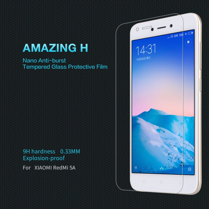 Nillkin Amazing H tempered glass screen protector for Xiaomi Redmi 5A order from official NILLKIN store