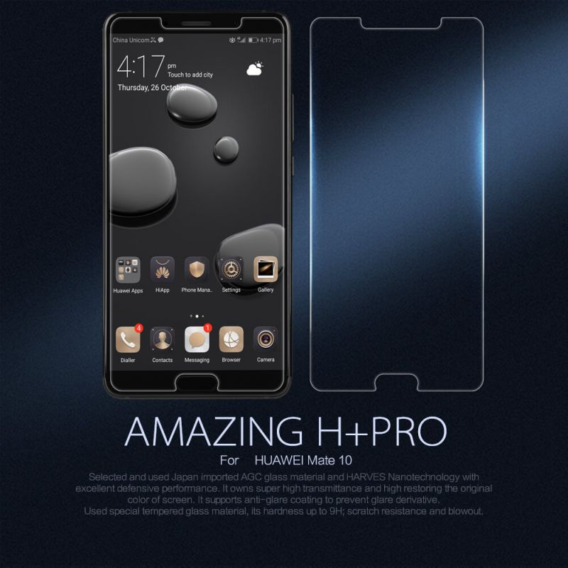 Nillkin Amazing H+ Pro tempered glass screen protector for Huawei Mate 10 order from official NILLKIN store