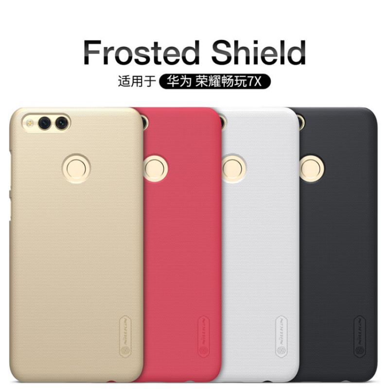 Nillkin Super Frosted Shield Matte cover case for Huawei Honor 7X + free screen protector order from official NILLKIN store
