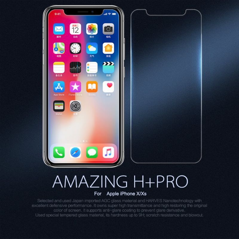 Nillkin Amazing H+ Pro tempered glass screen protector for Apple iPhone X order from official NILLKIN store