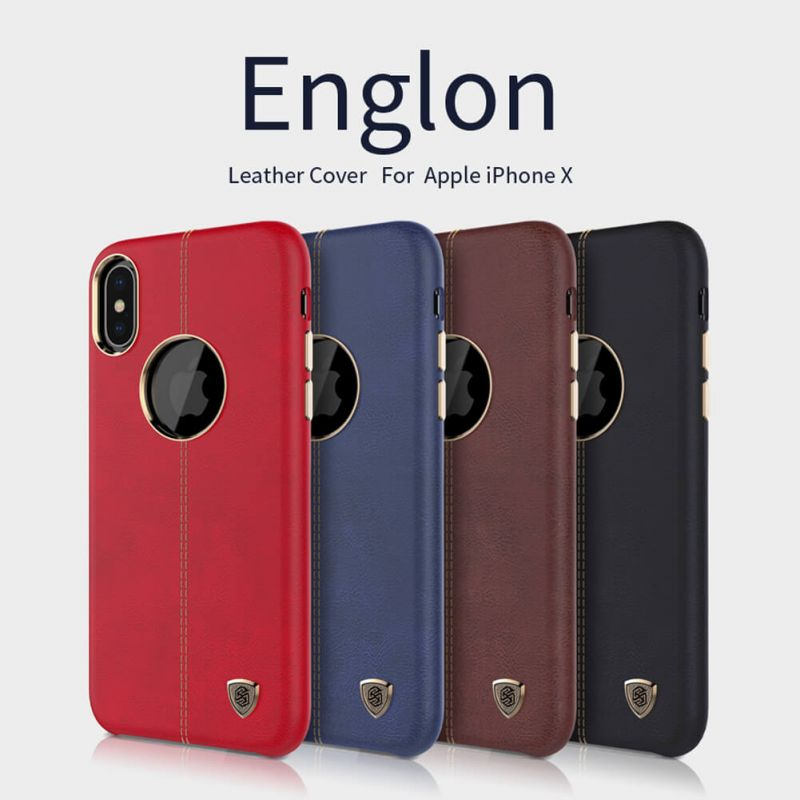 Nillkin Englon Leather Cover case for Apple iPhone X order from official NILLKIN store