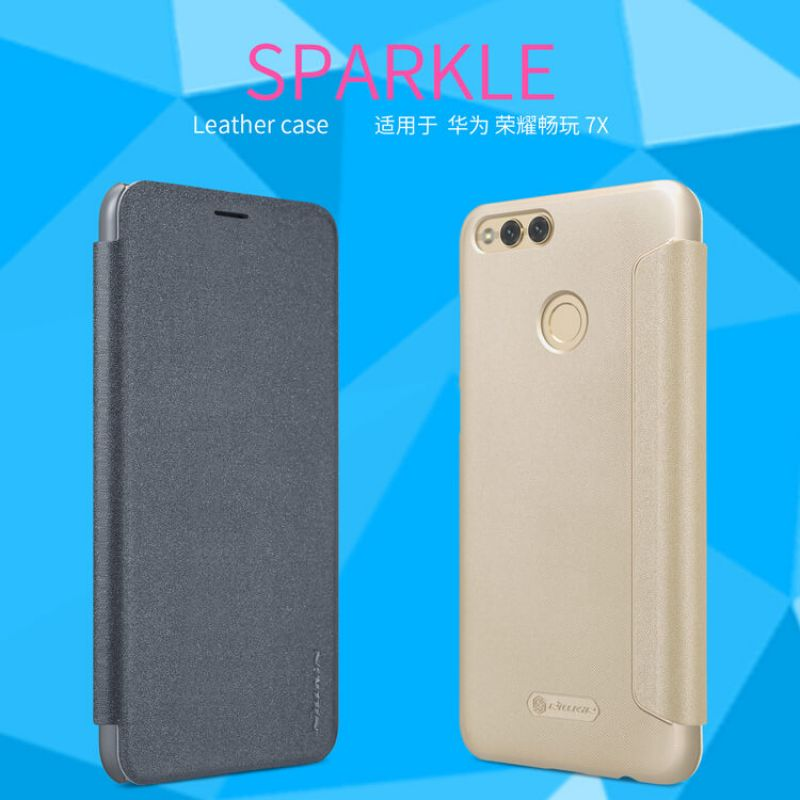 Nillkin Sparkle Series New Leather case for Huawei Honor 7X order from official NILLKIN store