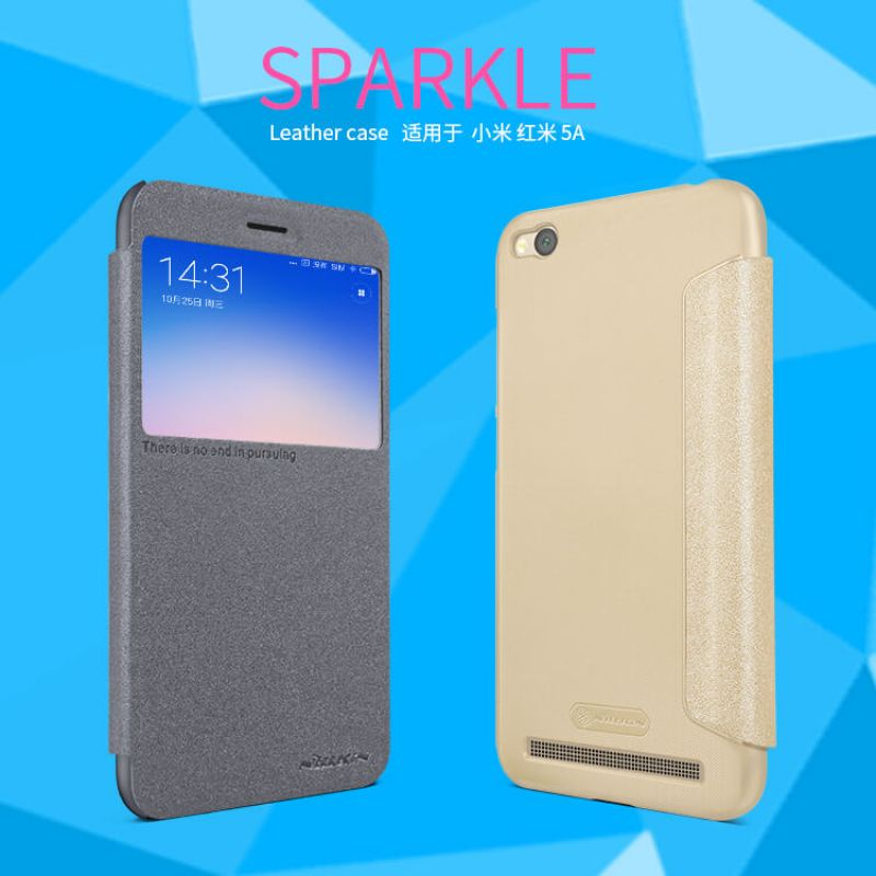 Nillkin Sparkle Series New Leather case for Xiaomi Redmi 5A order from official NILLKIN store