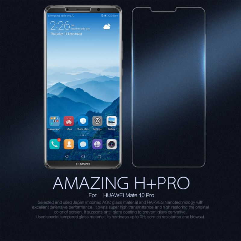 Nillkin Amazing H+ Pro tempered glass screen protector for Huawei Mate 10 Pro order from official NILLKIN store