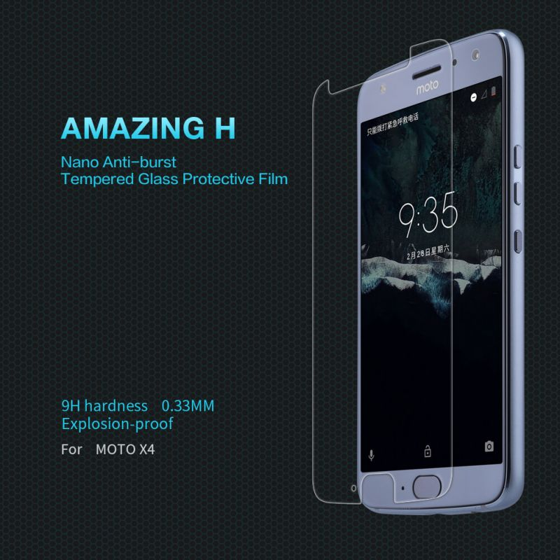Nillkin Amazing H tempered glass screen protector for Motorola Moto X4 order from official NILLKIN store