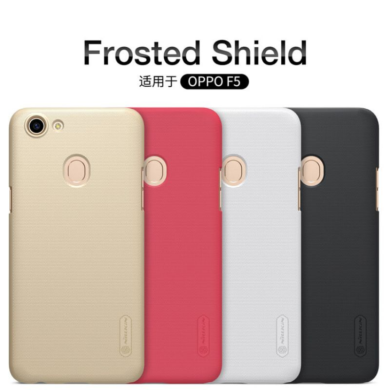 Nillkin Super Frosted Shield Matte cover case for Oppo F5 + free screen protector order from official NILLKIN store