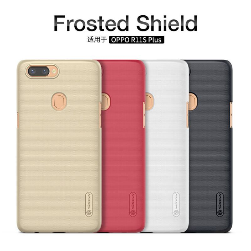 Nillkin Super Frosted Shield Matte cover case for Oppo R11S Plus + free screen protector order from official NILLKIN store