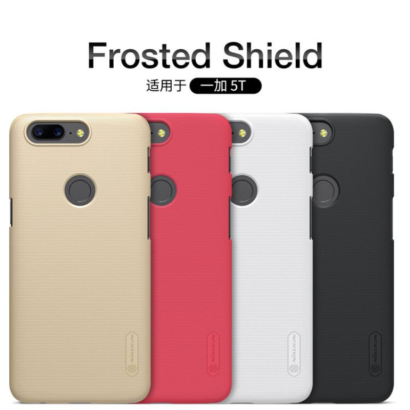 Nillkin Super Frosted Shield Matte cover case for Oneplus 5T (A5010) + free screen protector order from official NILLKIN store