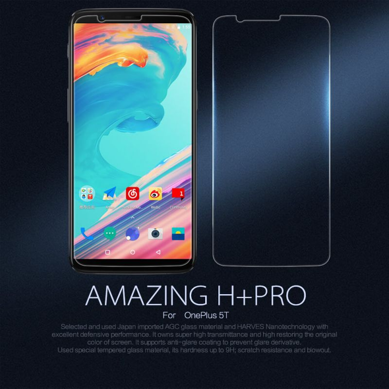 Nillkin Amazing H+ Pro tempered glass screen protector for Oneplus 5T (A5010) order from official NILLKIN store