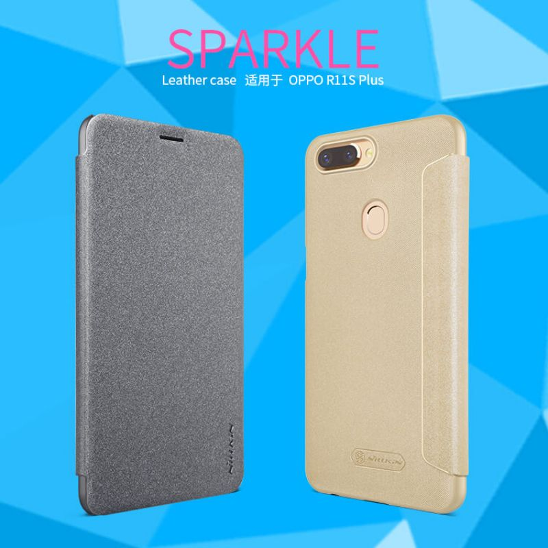 Nillkin Sparkle Series New Leather case for Oppo R11S Plus order from official NILLKIN store