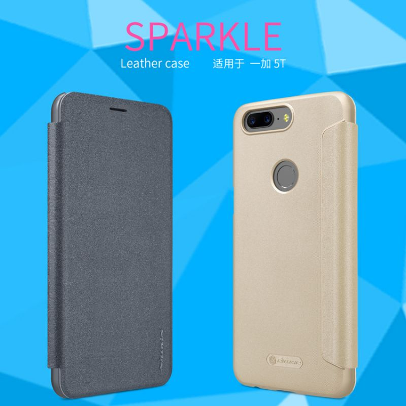 Nillkin Sparkle Series New Leather case for Oneplus 5T (A5010) order from official NILLKIN store