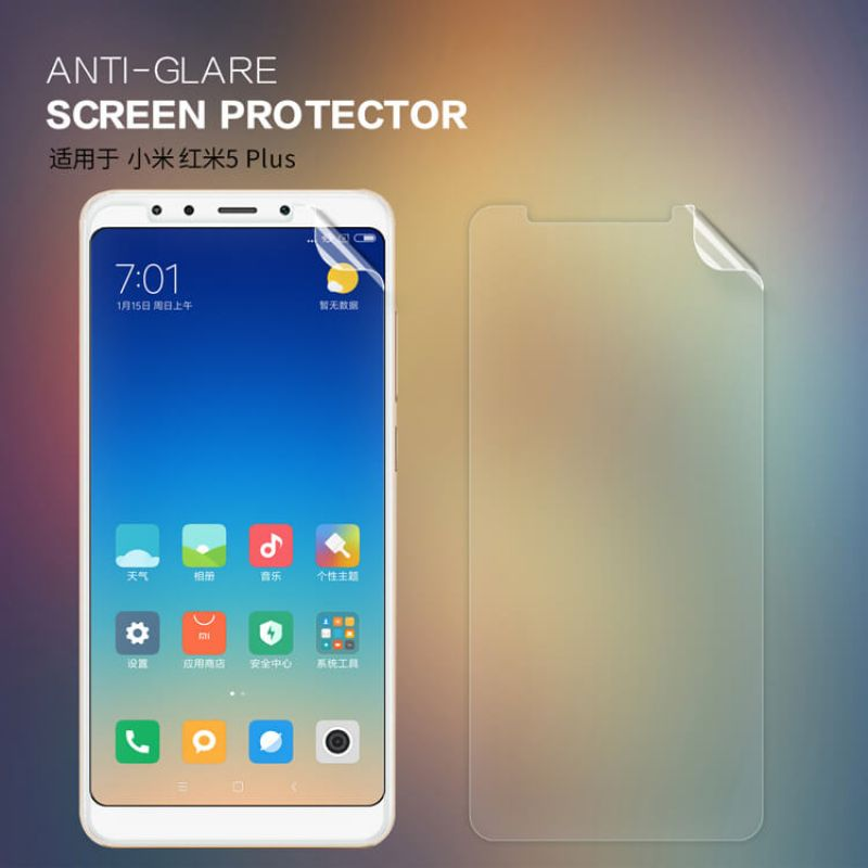 Nillkin Matte Scratch-resistant Protective Film for Xiaomi Redmi 5 Plus (Xiaomi Redmi Note 5) order from official NILLKIN store