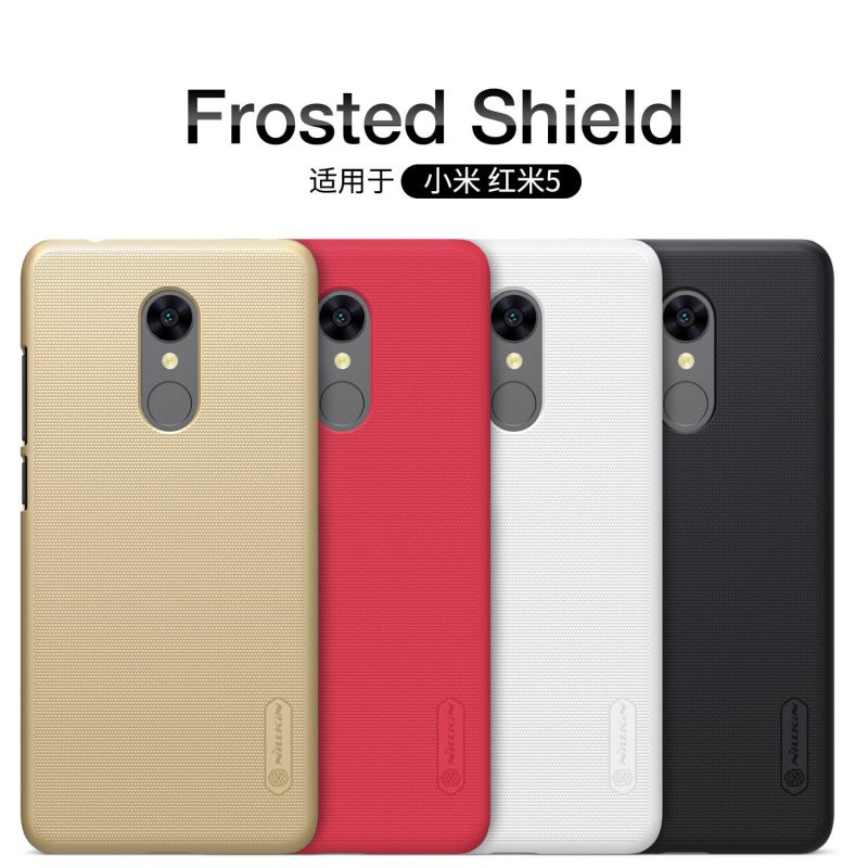 Nillkin Super Frosted Shield Matte cover case for Xiaomi Redmi 5 + free screen protector order from official NILLKIN store