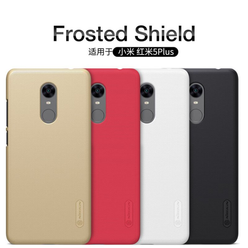 Nillkin Super Frosted Shield Matte cover case for Xiaomi Redmi 5 Plus + free screen protector order from official NILLKIN store