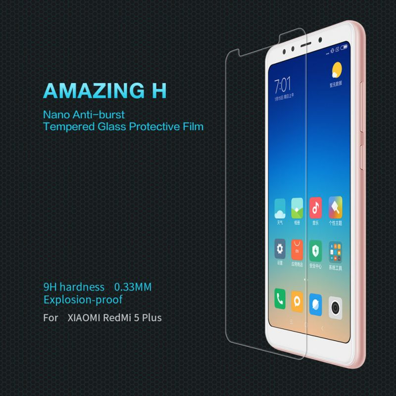 Nillkin Amazing H tempered glass screen protector for Xiaomi Redmi 5 Plus order from official NILLKIN store