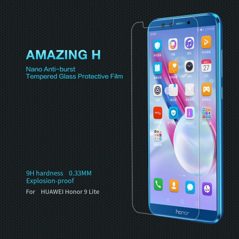 Nillkin Amazing H tempered glass screen protector for Huawei Honor 9 Lite order from official NILLKIN store