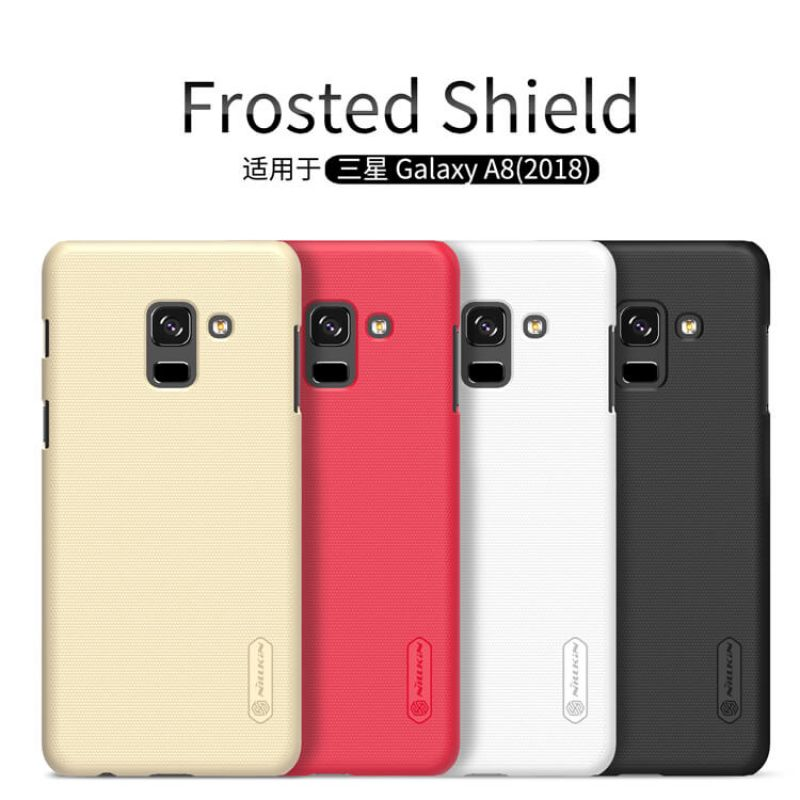 Nillkin Super Frosted Shield Matte cover case for Samsung Galaxy A8 (2018) + free screen protector order from official NILLKIN store