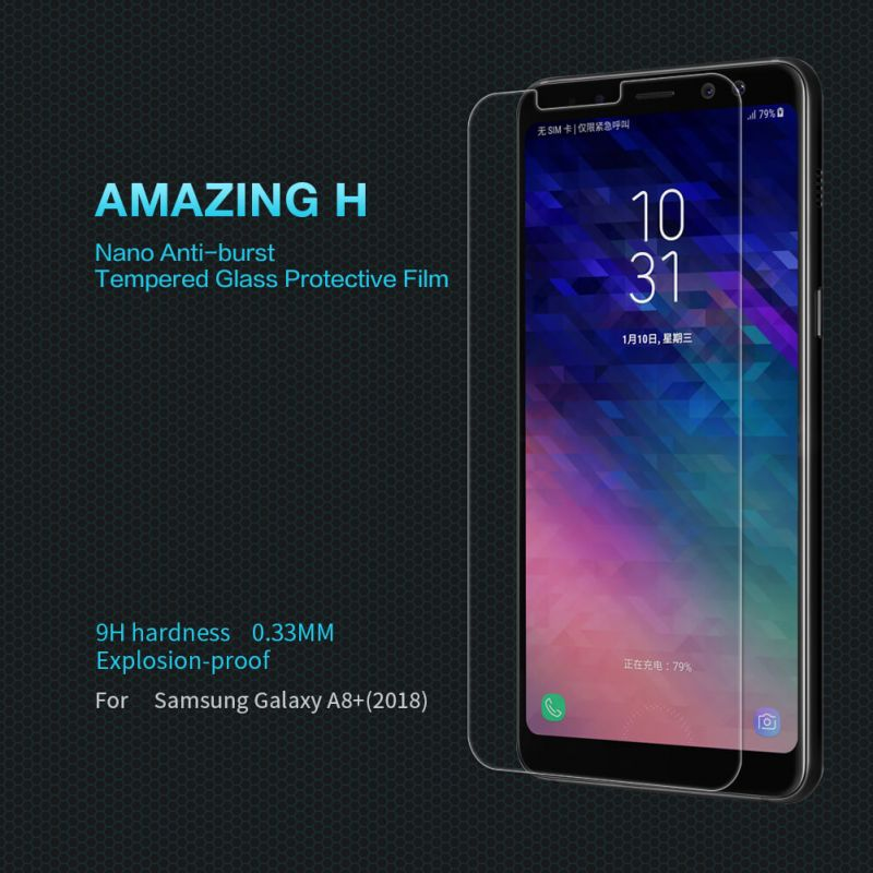 Nillkin Amazing H tempered glass screen protector for Samsung Galaxy A8 Plus (2018) order from official NILLKIN store