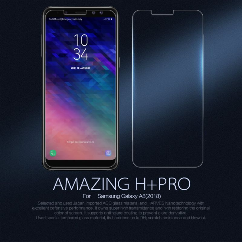 Nillkin Amazing H+ Pro tempered glass screen protector for Samsung Galaxy A8 (2018) order from official NILLKIN store