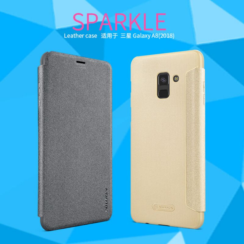 Nillkin Sparkle Series New Leather case for Samsung Galaxy A8 (2018) order from official NILLKIN store