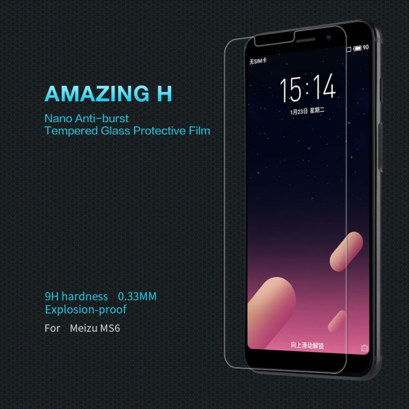 Nillkin Amazing H tempered glass screen protector for Meizu MS6 (S6) order from official NILLKIN store
