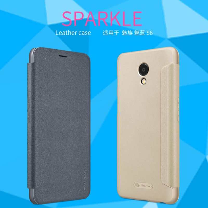 Nillkin Sparkle Series New Leather case for Meizu M6S order from official NILLKIN store