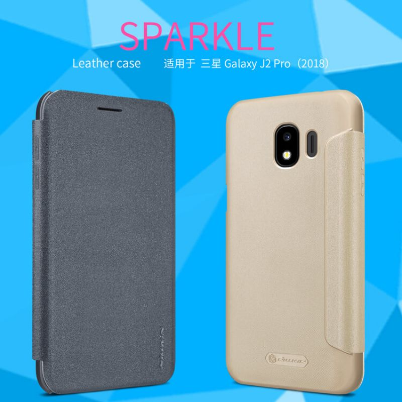 Nillkin Sparkle Series New Leather case for Samsung Galaxy J2 Pro (2018) order from official NILLKIN store